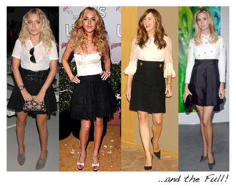 High Waisted Skirts :: On The Famous :: Fashion Editorial